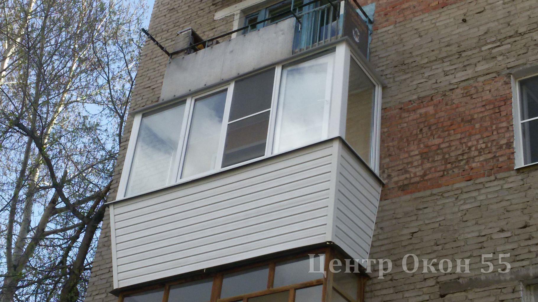 """Балкон с выносом - компания """"центр окон"""", г. омск."""